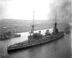 12 in battlecruiser HMS Indefatigable, lead ship of the second British battlecruiser class.  She was the first casualty at Jutland on 31 May 1916, blowing up shortly after coming under fire from German battlecruiser SMS Von der Tann.  There were only 2 survivors.