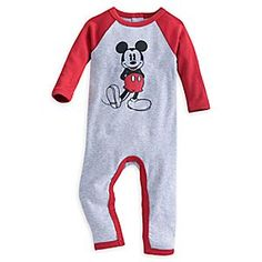 Mickey Mouse Stretchie for Baby | Disney Store Swell dreams are always in store when your little one suits up for slumber in their Mickey Mouse Stretchie, tailored in soft cotton with inside leg snaps for comfort, ease and fun!