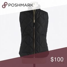 4ab29870303f Jcrew black quilted vest Black quilted vest in excellent condition J. Crew  Factory Jackets  amp