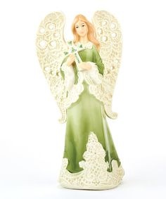 Look what I found on #zulily! Lace Angel Figurine by Roman #zulilyfinds