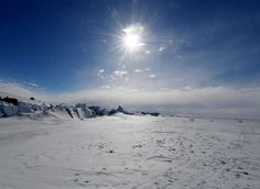 FILE PHOTO: A frozen section of the Ross Sea at the Scott Base in Antarctica
