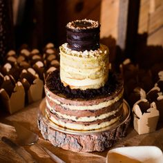 Rustic Wedding Cake // photo by: Cly Creation// Cake: Momofuku Milk Bar // http://www.theknot.com/weddings/album/a-rustic-cultural-wedding-in-rhinebeck-ny-137670