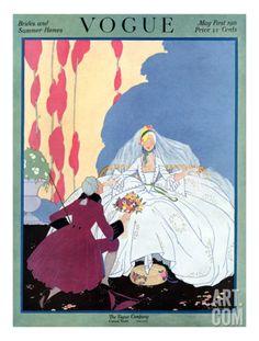 Vogue Cover - May 1916 Regular Giclee Print by Helen Dryden at Art.com