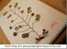 Beautiful and easy paint chip art!