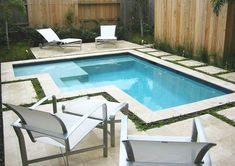 Your pool is all about relaxation. Not every pool must be a masterpiece. Your backyard pool needs to be entertainment central. If you believe an above ground pool is suitable for your wants, add these suggestions to your decor plan… Continue Reading → Small Swimming Pools, Small Backyard Pools, Small Pools, Swimming Pool Designs, Lap Swimming, Lap Pools, Indoor Pools, Ideas De Piscina, Small Pool Design