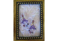 Beautiful purple bell flower earrings FREE-SHIPPING $8.00