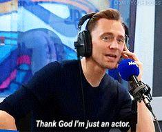 Tom Hiddleston does Magic FM's fiendishly tricky Celebrity Minute quiz! Gif-set (by damnyouhiddles): http://maryxglz.tumblr.com/post/160993007367/damnyouhiddlestom-hiddleston-does-magic-fms