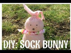How to make a no-sew sock bunny - YouTube