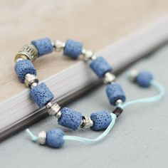 Blue Lava Stone Beads men Bracelet Beautiful Bangles Bracelets For Women Nature Stone Bracelet Strand Women Bracelets Jewelry