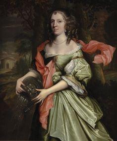 Title: Portrait of a lady, c.1660s Artist: John Michael Wright Copyright: © Bridgeman Art Library / Private Collection / Photo © Philip Mould Ltd, London