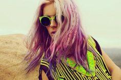 Ombre Hair + Neon = Fun