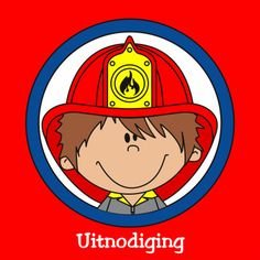 Brandweer uitnodiging - brandweerauto - kleurplaat - kinderfeestje - Uitnodigingen - Kaartje2go
