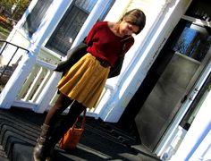 {Interview Quest} #TalitaTaiti - Goodwill sweater, F21 skirt, Zara belt, Datelli boots, Fossil bag
