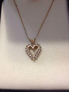 10K Diamond Heart Necklace Kay Jewelry NIB New by BargainBitz, $125.00