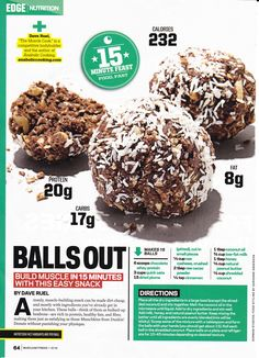 Protein Balls ... Muscle & Fitness Mag
