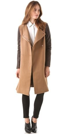 BCBG coat with contrast