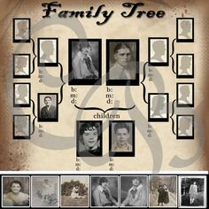 PSD Basic Combine Family Tree PSD Template by DigitalDesignsCB