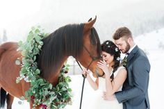 Photography by Kristina Curtis, Florals by Calie Rose, Gown by Alta Moda Bridal, Hair by Marnie Doxey, Makeup by KL Artistry Horse Wedding, Wedding Men, Summer Wedding, Wedding Ideas, Wedding Things, Wedding Reception, Alta Moda Bridal, Pictures With Horses, Winter Horse