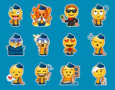 """Check out new work on my @Behance portfolio: """"Stickers emoji pack"""" http://be.net/gallery/45191423/Stickers-emoji-pack"""
