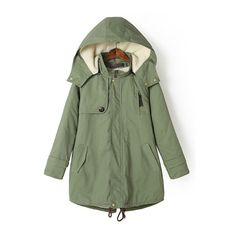 ab4732b1b54c23 SheIn offers Green Hooded Long Sleeve Loose Coat   more to fit your  fashionable needs.