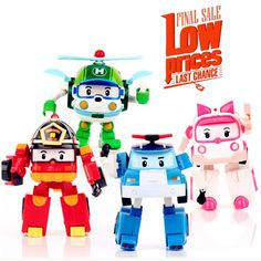 12.40$  Watch here - http://alizis.shopchina.info/1/go.php?t=32799690492 - 4pcs/Set Korea robot classic plastic Transformation Toys Toys Best Gifs For Kids free shipping 12.40$ #aliexpress