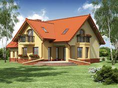 Zdjęcie projektu Cezar WRW1022 Dream House Plans, Small House Plans, Modern Paint Colors, House Architecture Styles, Modern Bungalow House, Simple House Design, Cottage Style Homes, Facade House, Modern Exterior