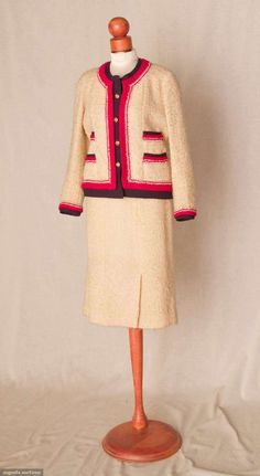 WOOL THREE PIECE CHANEL SUIT, 1962