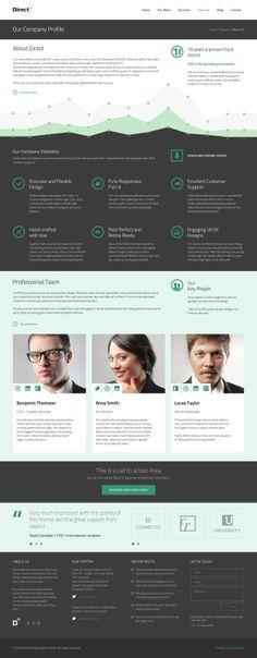 Direct Multipurpose PSD Theme on Web Design Served