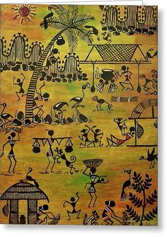Tribals I Greeting Card by Ivy Sharma