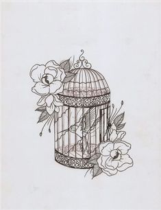 I Like The Style Of This, I Already Know What I Want My Birdcage Tattoo To Look Like And The Design Of This Is Spot On - Click for More...
