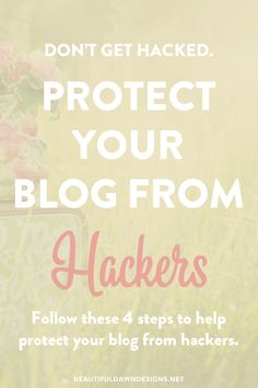 Protecting your blog