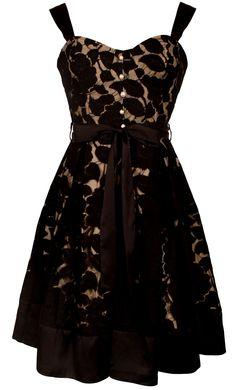 Black Lace Party Sundress