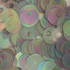 SEQUIN PAILLETTES Large Hole ~ GRAY SILVER RAINBOW Semi FROST ~ Loose sequins for embroidery, bridal, knitting, arts, crafts, and embellishment. SequinExplosion,http://www.amazon.com/dp/B00F220R9U/ref=cm_sw_r_pi_dp_yZ58sb0QACXE3JKF