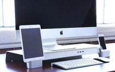 iForte UNITI Stand Desk Organizer for iMac and Apple Display
