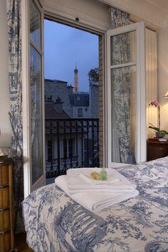 Hotel Gavarni, Paris ~ a charming hotel located in the Passy Neighborhood near the Trocodero and Eiffel Tower