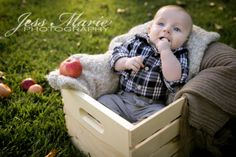 3-month-old Fall Photoshoot, kid photography