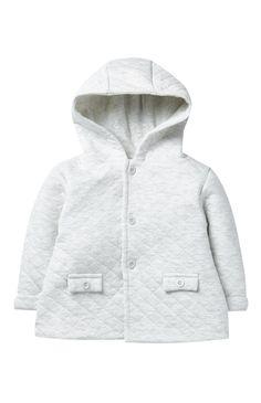 Primark - Chaqueta guateada gris con capucha