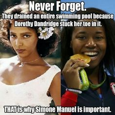 Simone Manuel makes history as First African-American woman to win an individual Olympic swimming medal at the age of 20. Plus we have the same bday.
