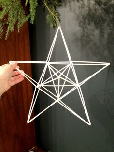 Geometric Christmas Star - Large- Finnish himmeli mobile tree topper Geometric Christmas Star Large Finnish himmeli by meginsherry Christmas Star, Christmas Crafts, Xmas, Little Christmas, Straw Decorations, Christmas Decorations, Indoor Crafts, Diy And Crafts, Christmas In Australia