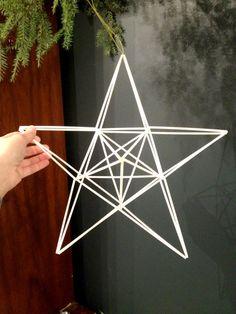 Geometric Christmas Star Large Finnish himmeli by meginsherry