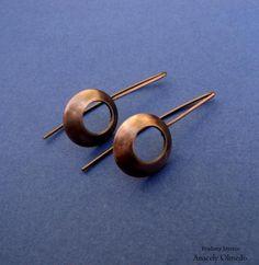 pendientes de cobre diseño contemporáneo cobre,lámina calado,soldadura