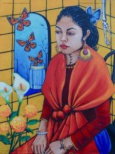 Recuerdo y Ahora Solo Quiero Volar-Acrylics on Canvas- 28x21 07:09:13