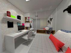 Office Room - Quarto de visitas com escritório. Por Linha 7