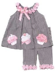 Rare Editions Baby Girls Birthday Cupcake Seersucker Dress Capri Outfit Set , Black , 5 - My CMS Toddler Dress, Toddler Outfits, Kids Outfits, Baby Girl Birthday, Girl Birthday Cupcakes, Baby Cupcake, Cupcake Party, Little Dresses, Little Girl Dresses
