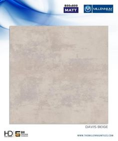 "Millennium Tiles 800x800mm (32x32) Vitrified Matt Porcelain XL Tiles Series ""Davis Beige"""