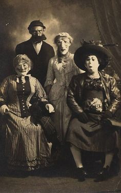 maudelynn:  Early 1920s Creepy as Heck Halloween Ball...