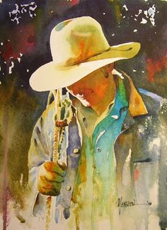 New Blue Shirt by Randy Meador Watercolor ~ 11.5 x 8