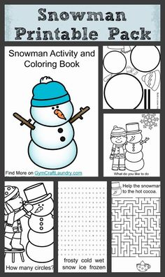 Free snowman coloring and printable pack activities for autistic children, Christmas Activities, Winter Activities, Learning Activities, Snowman Party, Snowman Crafts, Sock Snowman, Snowman Wreath, Winter Fun, Winter Theme