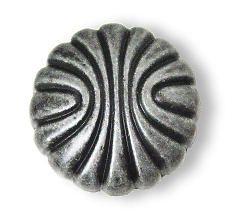"Shell Knob Wrought Iron Natural Elegance 1-1/4"" AM-BP1337-WI"
