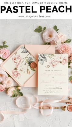 Pastel Wedding Invitations, Bespoke Wedding Invitations, Watercolor Invitations, Floral Invitation, Wedding Invitation Cards, Invitation Design, Wedding Stationery, Wedding Cards, Event Invitations